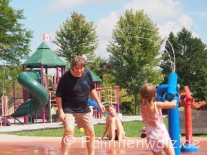 Warum Homeschooling vielleicht doch nicht des Teufels ist - unsere Woche in Alexandria - im Splash-Park