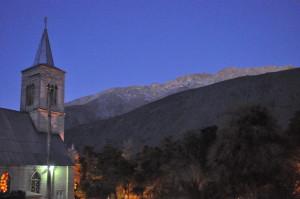 Unser Advent in Chile: Ein Anden-Dorf feiert das HOMA-Ritual - Abendstimmung in Pisco Elqui