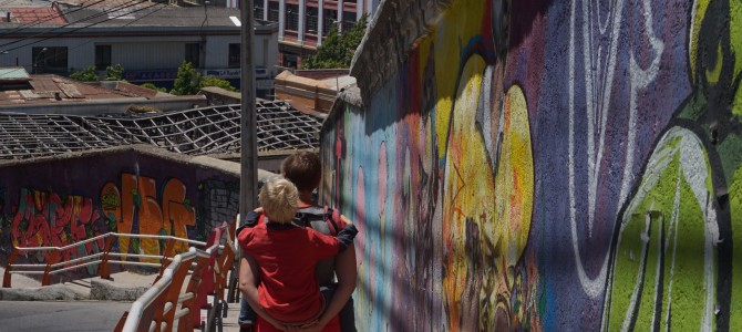 Mauerkunst am Meer – Staunen in Valparaiso
