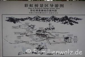 """Zwischen Kälteschock und Schildkröten-Massaker - unsere ersten Tage in China - Karte der Scenery """"Rainbow Bridge of Shangrao"""""""