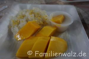 Elefanten, Strand und wilde Affen - Mango mit süßem Kokosreis